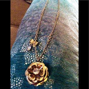Betsy Johnson flower necklace